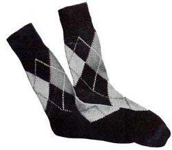 Knit Argyle Socks
