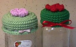 Crochet Jar Lid Covers