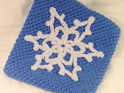 Crocheted Snowflake Pot Holder