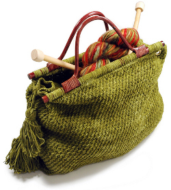 Knit Tote for Knitters
