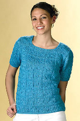 Knitted Caribbean Blue Tee