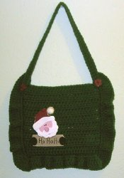 Christmas Card Crochet Pouch