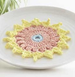 Cute Dahlia Dishcloth