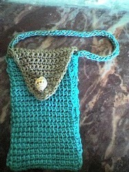 Tunisian Stitch Cell Phone Bag