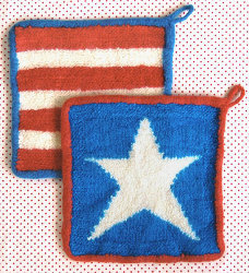 Stars and Stripes Felted Hot Pad