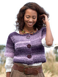 Modern Purple Striped Cardigan