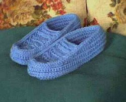 Crocheted Slippers Moccasin Style
