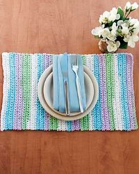 Sugar'n Cream Stripes Placemat