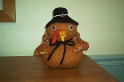 Felted Thanksgiving Turkey with Pilgrim Hat