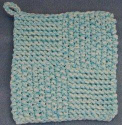 Knitting Pattern For A Pot Holder : Quick Knit Potholder AllFreeKnitting.com