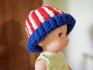 American Flag Loom Knit Hat: Version 2