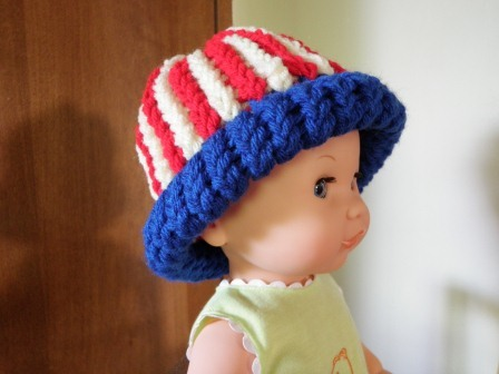 American flag loom knit hat version 2 for Fave crafts knitting patterns