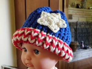 American Flag Loom Knit Hat: Version 3