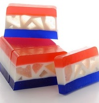 Fourth of July Layered Soap
