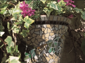 Ivy Leaf Mosaic Hanging Pot