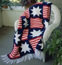 A July 4th Crochet Afghan