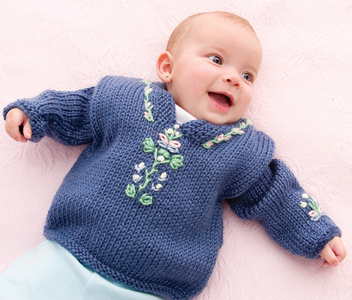Embroidered Baby Sweater