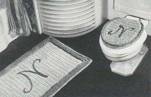 Vintage bathset (way to use up your stash of yarn)