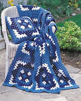 Blue Motif Blanket