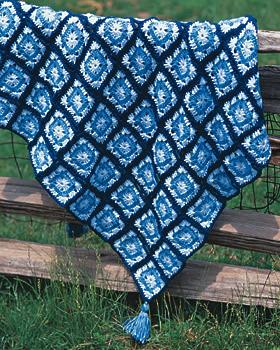 Blue Squares Afghan