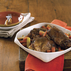 Red-Cooked Turkey Thighs with Leeks