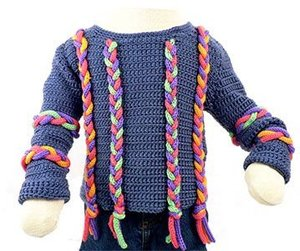 Crochet Children's Cord Sweater
