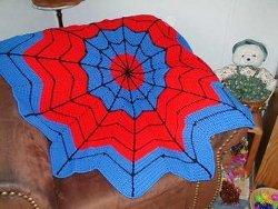 Spiderman Round Ripple Afghan