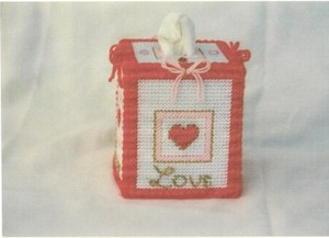 Hearts Plastic Canvas Tissue Box