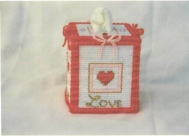 Hearts Plastic Canvas Tissue Box | FaveCrafts