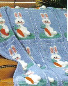 Crochet Filet Bunny Afghan Allfreecrochetafghanpatterns Com