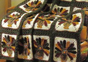 Thanksgiving Turkey Afghan