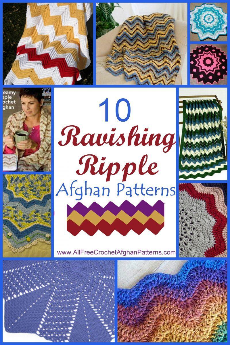 15 Ravishing Ripple Afghan Patterns