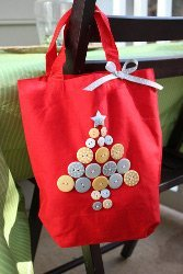 Christmas Button Tote