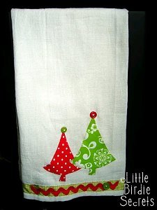 Christmas Applique Tea Towels
