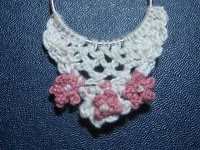 Flowers N Lace Crocheted Earrings