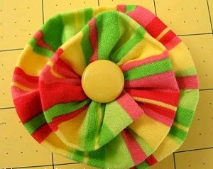 Ruffled Flower Pin