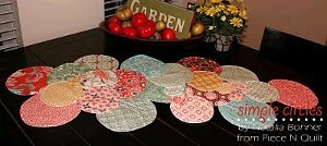Simple Circles Table Runner