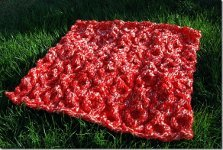 XOXO Hugs and Kisses Cable Baby Blanket