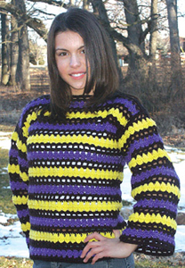 A Bright Sweater with Stripes
