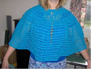 Blue Beaded Poncho