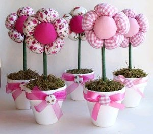 Plush Flowers in Pots