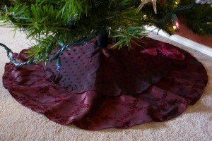 Two Tiered Luxe Christmas Tree Skirt