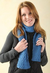 Wave Cable Scarf Reversible