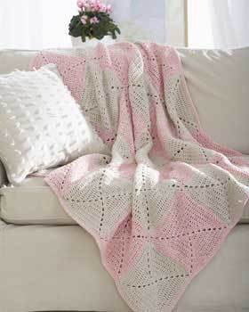 Beautiful Rose Twists Afghan