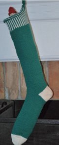 Striped Green Stocking