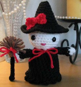 Hello Kitty Crocheted Witch