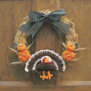 Happy Thanksgiving Turkey Wreath