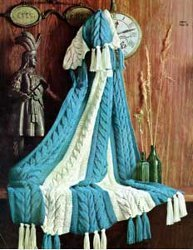 Blue And White Afghan