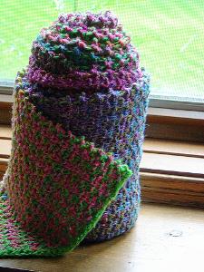 Noro Slip Stitch Stripe Scarf | AllFreeKnitting.com