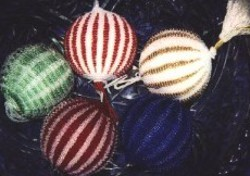 Knitting and Beaded Christmas Ornaments
